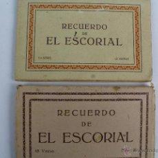 Postales: BP-20. LOTE DE DOS CUADERNOS DE POSTALES RECUERDO ESCORIAL. 1ª SERIE Y SERIE II. DISTINTAS EPOCAS.. Lote 47214261
