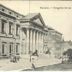 Cartoline: MADRID CONGRESO DE LOS DIPUTADOS ESCRITA. Lote 47287167