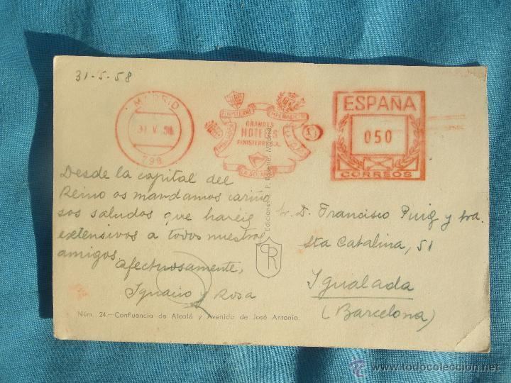 Postales: POSTAL AÑO 58 MADRID - Foto 2 - 47430446