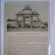 Postales: MADRID PUERTA DE TOLEDO. Lote 2289127
