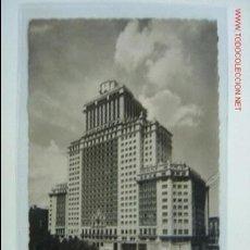 Postales: MADRID EDIFICIO ESPAÑA, HOTEL PLAZA. Lote 2318744