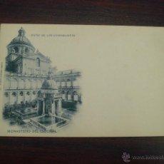 Postales: ANTIGUA POSTAL EL ESCORIAL, MADRID.PATIO DE LOS EVANGELISTAS. S/CIRCULAR.Nº 45. ED. HAUSER Y MENET. Lote 47711684