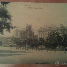 Postales: MADRID - PASEO DEL PRADO. Lote 47738245