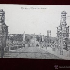 Postales: ANTIGUA POSTAL DE MADRID. PUENTE DE TOLEDO. FOTPIA. J. ROIG. CIRCULADA. Lote 47771775