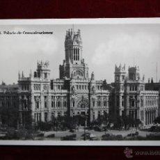 Postales: ANTIGUA FOTO POSTAL DE MADRID. PALACIO DE COMUNICACIONES. ED. G. H. ALSINA. SIN CIRCULAR. Lote 47792259