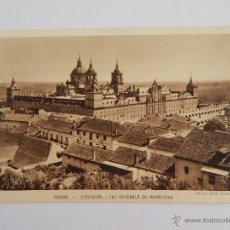 Postales: EL ESCORIAL: VISTA GENERAL DEL MONASTERIO (POSTAL FRANCESA). Lote 47824293