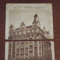 Postales: 1932 MADRID POSTAL HOTEL MARIA CRISTINA CALLE ALCALA CON MARQUES DE CUBAS SELLO SOBRECARGA REPUBLICA. Lote 47944866