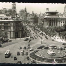 Postales: POSTAL. 1956 MADRID PLAZA DE LAS CIBELES. CIRCULADA. Lote 47980208