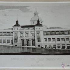 Postales: FOTOGRAFIA DE COMO QUEDARIA EL MERCADO DE SAN FERNANDO EN LA CALLE EMBAJADORES, MADRID, MAYO 1943, P. Lote 48277588