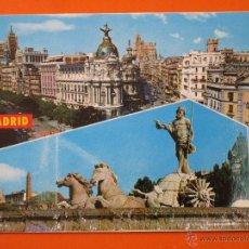 Postales: POSTAL - MADRID - NEPTUNO Y CALLE ALCALA - POSTALES ALCALA 1977 - NO CIRCULADA. Lote 48335819