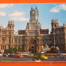 Postales: POSTAL - MADRID - CIBELES Y PALACIO COMUNICACIONES AUTOBUS - POSTALES ALCALA 1977 - NO CIRCULADA. Lote 48335852