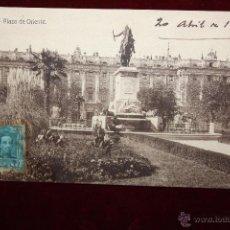 Postales: ANTIGUA POSTAL DE MADRID. PLAZA DE ORIENTE. CIRCULADA. Lote 48375895