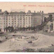 Postales: TARJETA POSTAL MADRID. PLAZA DE CÁNOVAS Y PALACE HOTEL. Nº 685. FOTOTIPIA CASTAÑEIRA. Lote 48631527