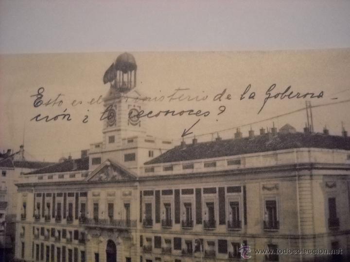 MADRID,MINISTERIO DE GOBERNACIÓN Y PUERTA DEL SOL. (Postales - España - Comunidad de Madrid Antigua (hasta 1939))