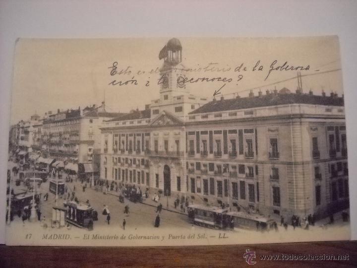 Postales: Madrid,Ministerio de gobernación y puerta del Sol. - Foto 3 - 48662141
