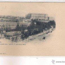 Postales: POSTAL DE MADRID - ESTACION DEL NORTE Y PALACIO REAL .. Lote 48740546