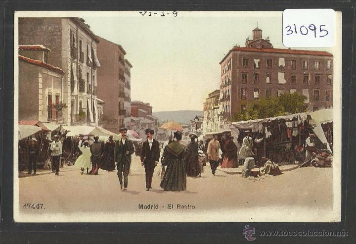 MADRID - EL RASTRO - REVERSO SIN DIVIDIR - (31095) (Postales - España - Comunidad de Madrid Antigua (hasta 1939))