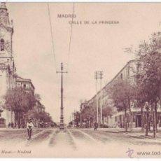 Postales: MADRID: CALLE DE LA PRINCESA. HAUSER Y MENET. REVERSO SIN DIVIDIR. SIN CIRCULAR (ANTERIOR A 1905). Lote 48823032