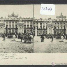Postales: POSTAL ESTEREOSCOPICA - MADRID - PALACIO REAL - ED· LL - (31303) . Lote 48870764
