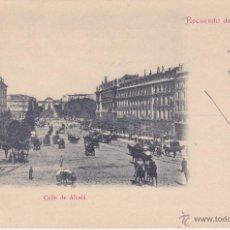 Postales: POSTAL RECUERDO DE MADRID CALLE DE ALCALA, P SANZ CALLEJA, CIRCULADA A BURDEOS FRANCIA 1901. Lote 48881060