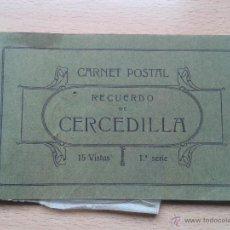 Postales: CUADERNILLO DE POSTALES RECUERDO DE CERCEDILLA.... INCOMPLETO, TIENE 5 FOTOS NADA MÁS. Lote 48885384