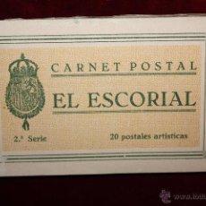 Postales: CARNET POSTAL DE EL ESCORIAL. MADRID. 2ª SERIE. VARIAS VISTAS. ED. GRAFOS. 20 TARJETAS. Lote 49171230