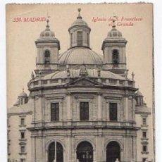 Postales: TARJETA POSTAL MADRID. IGLESIA DE S. FRANCISCO EL GRANDE. Nº 550. FOTOTIPIA CASTAÑEIRA, CIRCA 1930. Lote 49341149