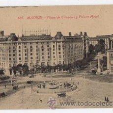 Postales: TARJETA POSTAL MADRID. PLAZA DE CÁNOVAS Y PALACE HOTEL. Nº 685. FOTOTIPIA CASTAÑEIRA, AÑOS 30. Lote 49446051