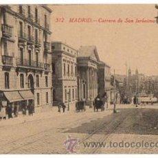 Postales: TARJETA POSTAL MADRID. CARRERA DE SAN JERÓNIMO. Nº 512. FOTOTIPIA CASTAÑEIRA, AÑOS 30. Lote 49446100