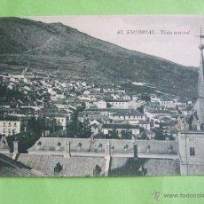 Postales: POSTAL MADRID - EL ESCORIAL - VISTA PARCIAL - HIJO DE NICOLAS SERRANO - SIN CIRCULAR. Lote 49486432