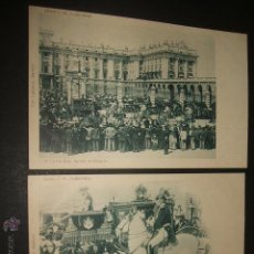 Postales: MADRID COL. OLABARRIA SERIE C. COMPLETA JURA DE ALFONSO XIII 1902. Lote 49711291