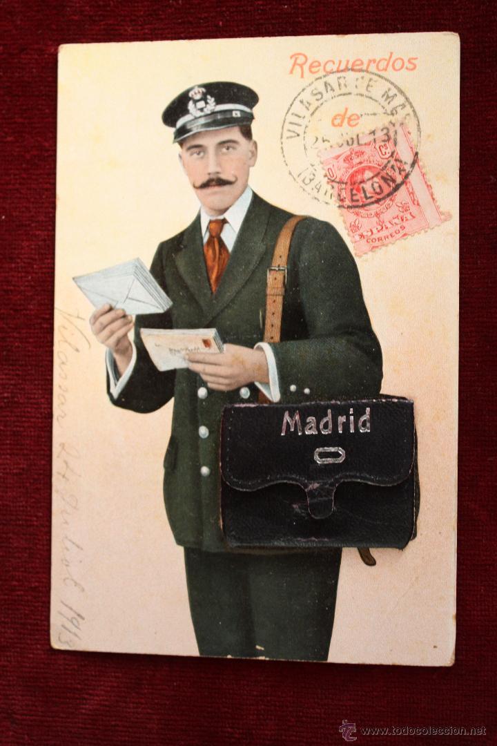 ANTIGUA POSTAL RECUERDOS DE MADRID. TIRA CON 10 VISTAS. ED. E. DUMAS. CIRCULADA (Postales - España - Madrid Moderna (desde 1940))