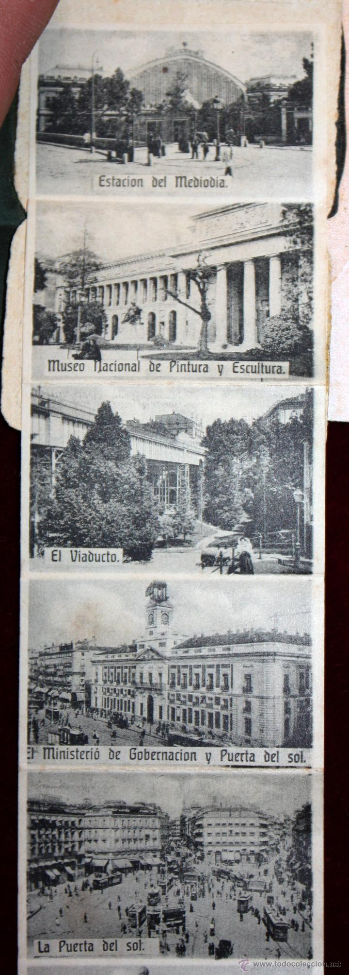 Postales: ANTIGUA POSTAL RECUERDOS DE MADRID. TIRA CON 10 VISTAS. ED. E. DUMAS. CIRCULADA - Foto 3 - 49825270