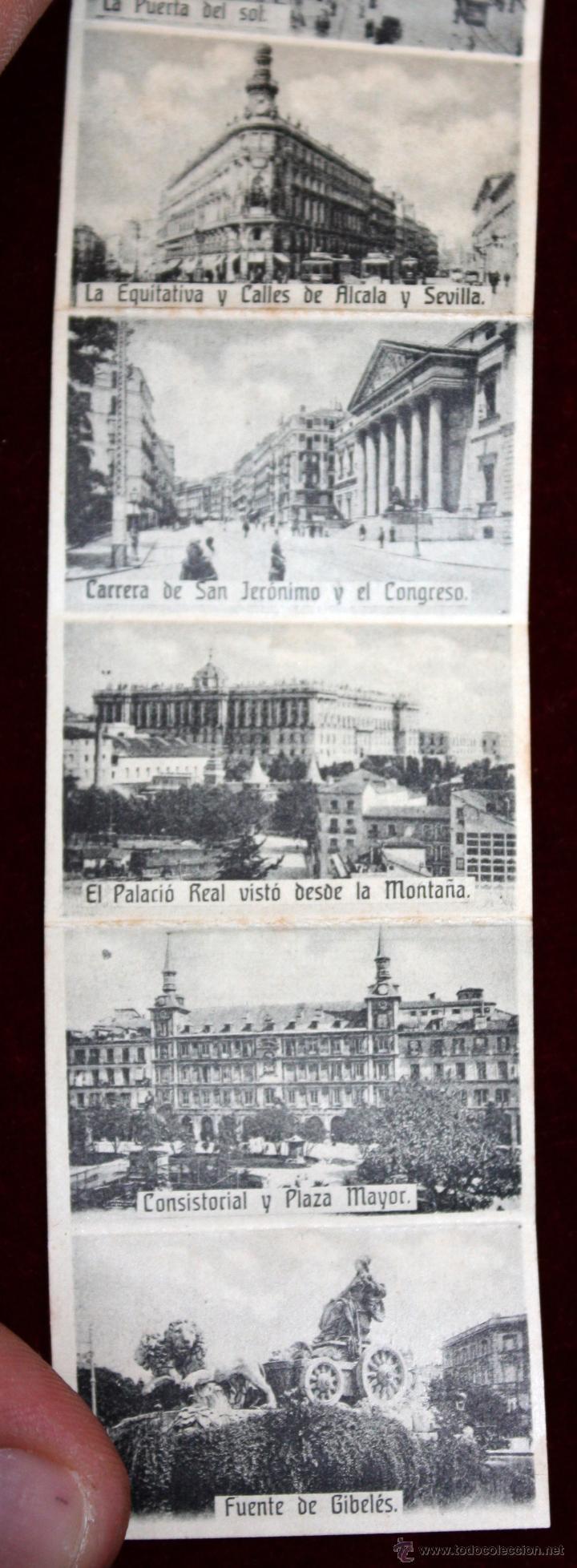 Postales: ANTIGUA POSTAL RECUERDOS DE MADRID. TIRA CON 10 VISTAS. ED. E. DUMAS. CIRCULADA - Foto 4 - 49825270
