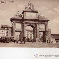 Postales: MADRID Nº 58 PUERTA DE TOLEDO HELIOTIPIA DE KALLMEYER Y GAUTIER ESCRITA CIRCULADA SELLO. Lote 49918744