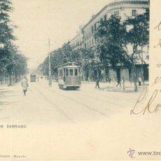 Postales: TARJETA POSTAL MADRID CALLE DE SERRANO HAUSER Y MANET 247, DOS SELLOS ALFONSO XIII TIPO PELON. Lote 49943143
