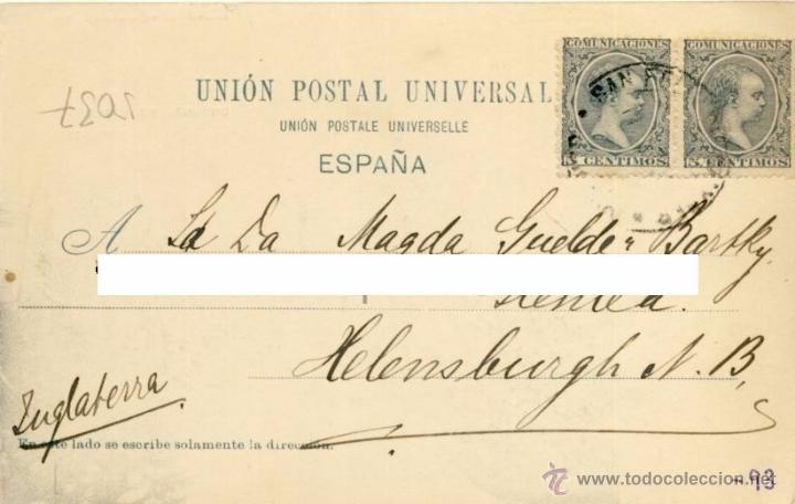 Postales: TARJETA POSTAL MADRID CALLE DE SERRANO HAUSER Y MANET 247, DOS SELLOS ALFONSO XIII TIPO PELON - Foto 2 - 49943143