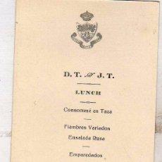 Postales: MENU DEL HOTEL RITZ DE MADRID. 1925 MEDIDAS 14 X 9 CM. Lote 50285246