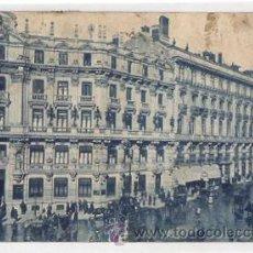 Postales: TARJETA POSTAL MADRID. BANCO HISPANOAMERICANO Y PLAZA DE CANALEJAS. Nº 46. GRAFOS. AÑO 1923. Lote 50547111