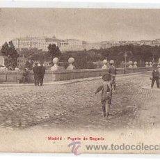 Postales: TARJETA POSTAL MADRID. PUENTE DE SEGOVIA. P.Z. 10143. CIRCA 1930. Lote 50547560