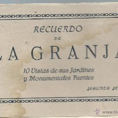 Postales: BLOC 10 POSTALES DE LA GRANJA - MADRID - HELIOP.ARTISTICA ESPAÑOLA 2º SERIE. Lote 50602334