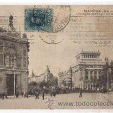 Postales: TARJETA POSTAL MADRID. CALLE DE ALCALA, BANCOS DE ESPAÑA Y RIO DE LA PLATA. AÑO 1925. Lote 50610449