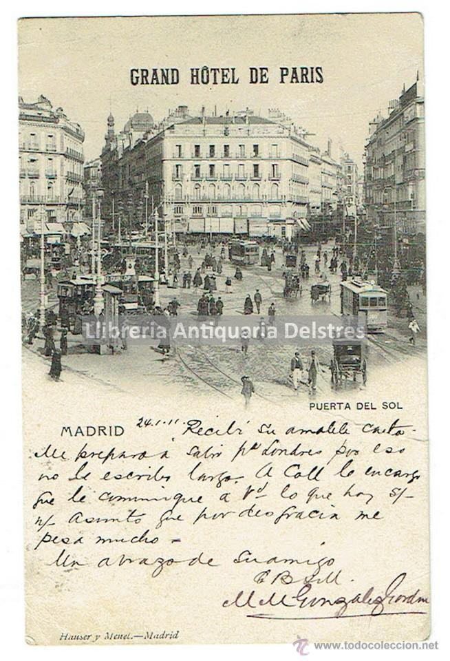 Postal madrid 1911 grand hotel de paris ma comprar for Hotel paris en madrid puerta del sol