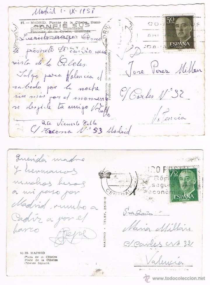 Postales: MADRID - LOTE POSTALES ANTIGUAS - Foto 2 - 50661949
