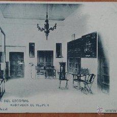 Postales: MONASTERIO DEL ESCORIAL - HABITACIÓN FELIPE II - MADRID. Lote 50876165