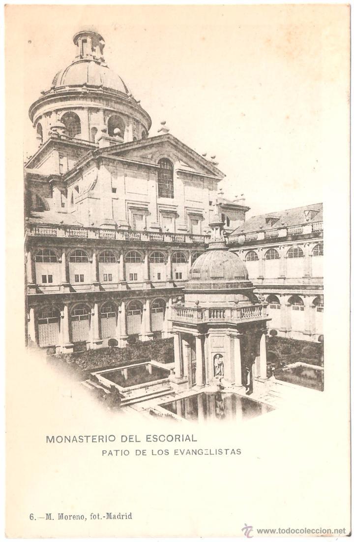 MONASTERIO DEL ESCORIAL PATIO DE LOS EVANGELISTAS (Postales - España - Comunidad de Madrid Antigua (hasta 1939))