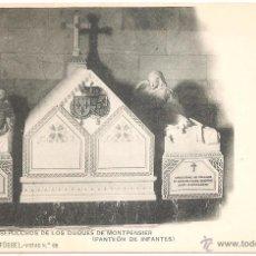Postales: ESCORIAL SEPULCROS DE LOS DUQUES DE MONTPENSIER (PANTEÓN DE INFANTES). Lote 3903632
