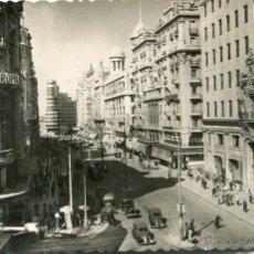 Postales: MADRID. VISTA PARCIAL DE LA AVENIDA DE JOSÉ ANTONIO. 14 GARCÍA GARRABELLA. Lote 51091707