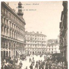 Postales: MADRID CALLE DE SEVILLA. Lote 51178099