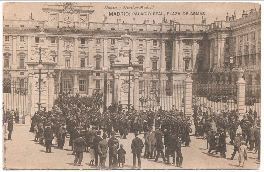 Madrid palacio real plaza de armas 1918 comprar for Palacio de la comunidad de madrid
